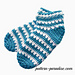 X Stitch Slipper Socks pattern