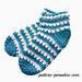 X Stitch Slipper Socks pattern