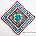 English Garden Afghan Square pattern