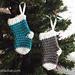 Mini Stocking Ornaments pattern