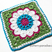 "Dahlia 12"" Crochet Square pattern"