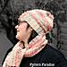Sunset Blush Hat and Scarf Set pattern