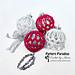 Noel Tree Ornaments pattern