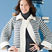 #20 One Button Striped Cardigan pattern
