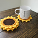 Sunflower Cup Coasters pattern