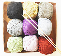 Bambon yarn for single color option in a DK weight by Yarnz2go