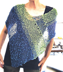 Knit kit in Lettuce and Azure colors by Yarnz2go
