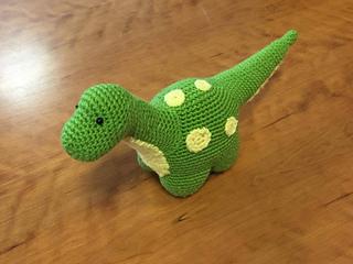 Tim the Friendly Dinosaur amigurumi pattern - Amigurumipatterns.net | 240x320