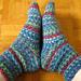 Socks with Jojo-Heel pattern