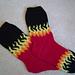 Hot Rod Socks AKA Olympic Flame Socks pattern