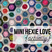 Mini Hexie Love Actually pattern