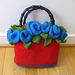Felted Clutch with Roses  pattern