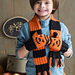 #08 Ribbed Scarf and Pumpkin Mittens pattern