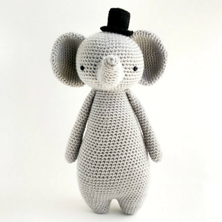 Ravelry, #haken, gratis patroon (Engels), olifant, amigurumi ... | 320x320
