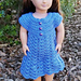 Doll Dress with Buttons pattern