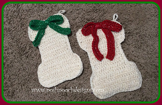 Dog Bone Christmas Stocking.Dog Bone Christmas Stocking Pattern By Sara Sach