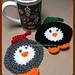 Holiday Penguin Coaster pattern