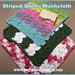 Striped Shells Washcloth pattern