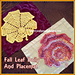 Fall Leaf Doily And Placemat pattern