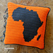 Africa Map Pillow Cover pattern