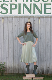 Green Leaf Pullover by Maureen Clark