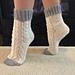 Narcissus Lace Socks (Cuff Down) pattern
