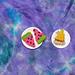 Watermelon, watermelon, pizza pattern