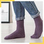 R0257 Sendai Socks REGIA 4-ply 6850 lilac shiné