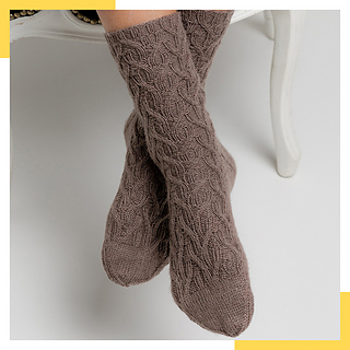Ducale Socks in REGIA PREMIUM Bamboo Col 00025 deep taupe