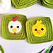 Chicken & Chick Granny Square pattern