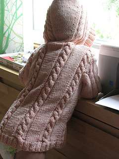 cabled hoodie