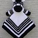 Mini Zebra Lovey Blankie pattern