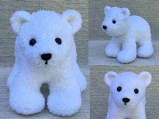 DK Knitting Pattern For Animal Soft Toy  Polar Bear