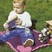 I Love Baby Reversible Intarsia Blanket (US) pattern