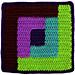 Square 4: Log Cabin pattern