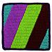 Square 5: Diagonal Stripes pattern