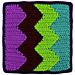 Square 6: Vertical Chevrons pattern