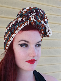 Striped Turban #2607 pattern by The Spool Cotton Company