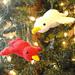 Caroling Christmas Bird pattern