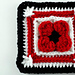 Lest We Forget Poppy Afghan Square pattern