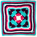 "All Aflutter 12"" Afghan Square pattern"