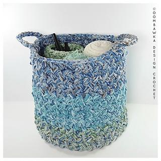 Yarn Stash Basket - Free Crochet Pattern from Oombawka Design Crochet, 2018
