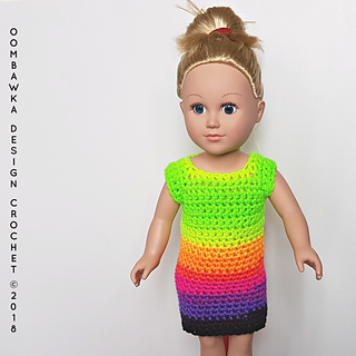 Dress for Dolly - 18 Inch Doll Clothes - Free Crochet Pattern - Oombawka Design Crochet