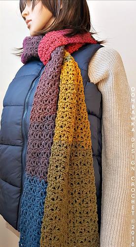 Rustic Rainbow Scarf - Free Pattern - Oombawka Design Crochet - #scarfofthemonthclub2018