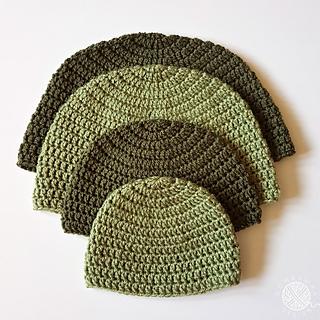 DK Double Crochet Hat Pattern. Free Pattern from Oombawka Design Crochet.
