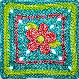 5 Petal Afghan Square. Free Pattern Oombawka Design Crochet. 2019. #grannysquareday2019