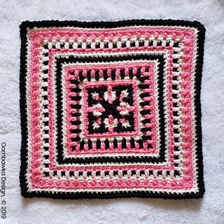 Madison Afghan Square Pattern. Designed by Rhondda Mol @oombawkadesigncrochet