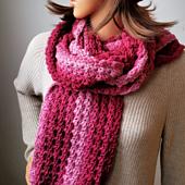 Karen's Winter Scarf Pattern. Oombawka Design Crochet. #scarfofthemonthclub2019