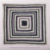 Perfect Balance Afghan Square Pattern. #CALCentralCrochet #OptionsCAL @oombawkadesigncrochet