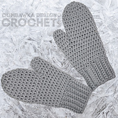 Maggie's Mittens Pattern. Free Crochet Pattern from Rhondda @oombawkadesigncrochet